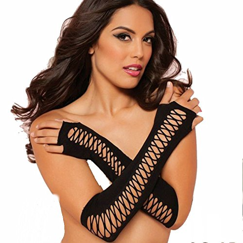 Bestmall®Women's New Style sexy fashion Fishnet Long Gloves Night Club Party Mittens by Bestmall