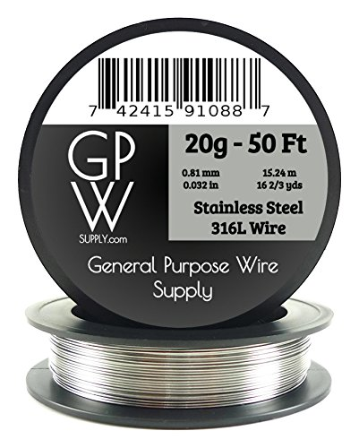 GPW Supply - Stainless Steel 316L 20g 50 ft Electronic Resistance / Craft Wire