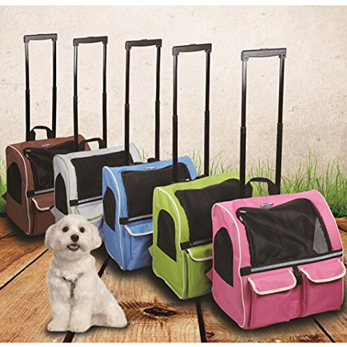 Meiying Roll Around 4-in-1 Pet Carrier Travel Backpack for Dogs and Cats Travel Tote Airline Approved (Pets up to 17 Pounds, Pink) by Meiying (Image #5)