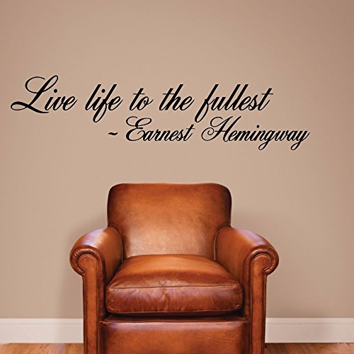 Live life to the fullest. - 0159- Home Decor - Wall Decor - Ernest Hemingway - Positive - Quote - Inspirational (Ralph Home Decor)