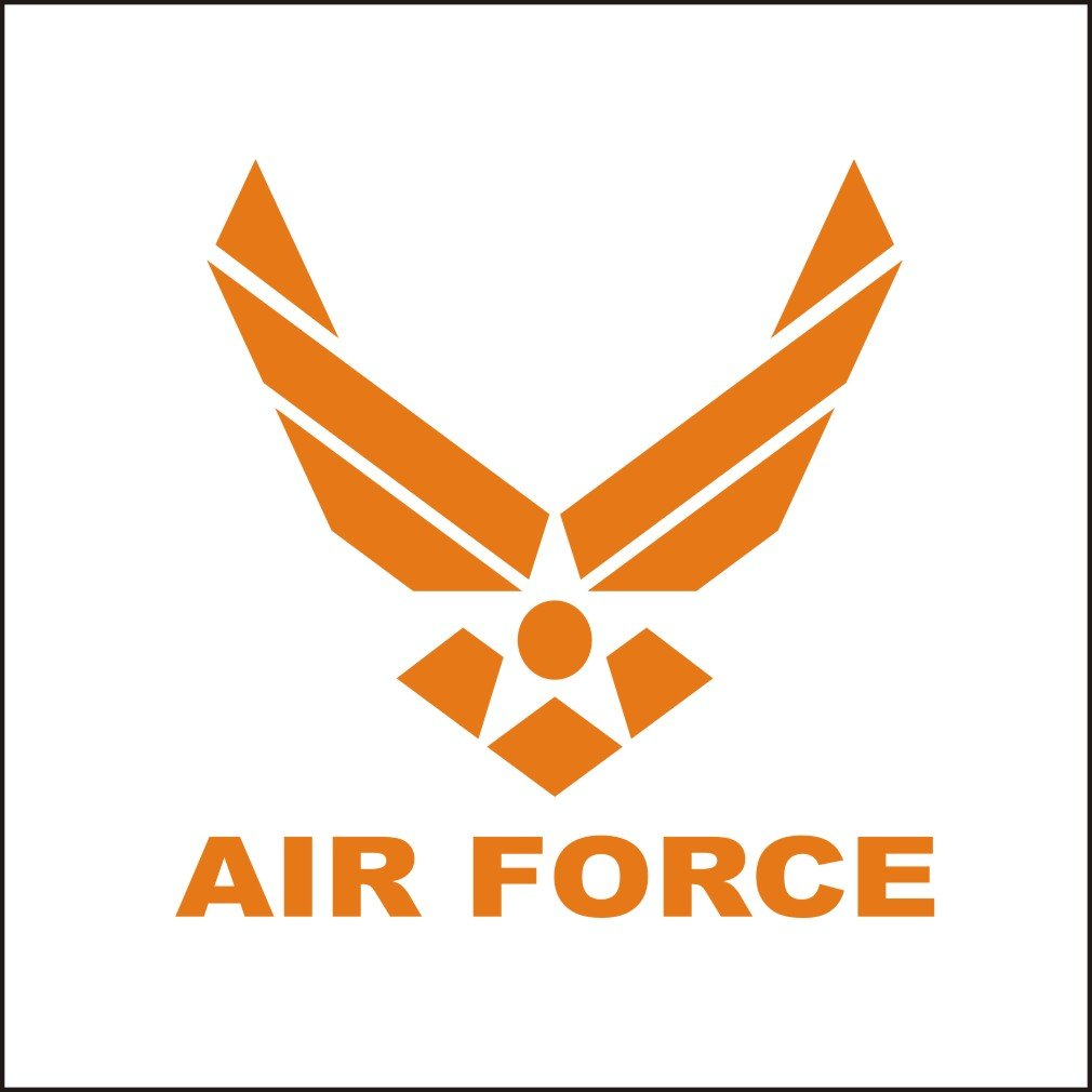 Amazon com lepni me 3142 o car stickers us air force logo vinyl decal car window bumper sticker orange automotive