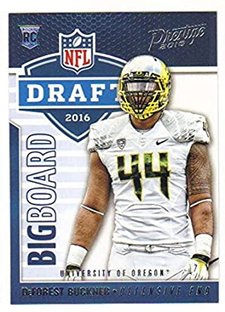 f3891e7b7f0 Football NFL 2016 Panini Prestige Draft Big Board  13 DeForest Buckner  13  NM+
