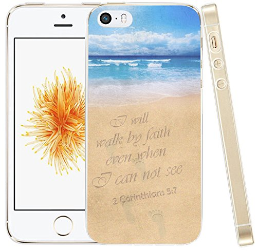 Case for iPhone SE Case Bible Verses, Hungo Compatible Soft TPU Silicone  Protector Cover Case Replacement for iPhone SE/5S/5 Christian Songs Quotes  2
