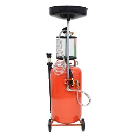 Festnight Contenedor de Drenaje para Aceite Usado 70L-Color de Rojo Material de Acero,48x41x140cm