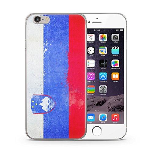 Slowenien Grunge iPhone 6 & 6S SLIM Hardcase Hülle Cover Case Schutz Schale Flagge Flag Slovenia Slovenija