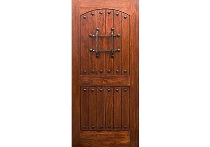 the best attitude 2754b 48a14 ETO Doors RM1 - Exterior Rustic Mahogany Wood Arched Top ...