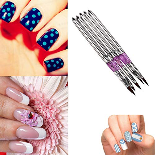 Renovatio Nails - MAANGE canetas Crystal Pen Nail Art Dotting Manicure Painting kalem Drawing Polish Brush Pen Tool caneta Nail Art -