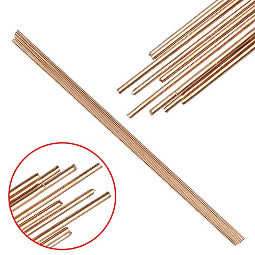 10pcs Round Solid Red Copper Rods Unpolished Gas Bronze Rod 1.6x330mm For Riveting Cutting Tools by TOLOVI