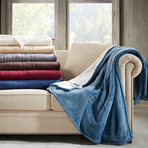 Woolrich Elect Electric Blanket Throw with 3 Heat Level Sett