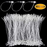Bignc 3000 Pcs Plastic Fastener Hang Tag Snap Lock 5' Pin Security Loop for Retail Store Clothing(Clear)