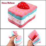 BBTshop Lovely Stress Reliever Strawberry Cake Super Slow Rising Kids Squeeze Toys