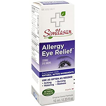Eye Allergy Drops >> Similasan Allergy Eye Relief Eye Drops 0 33 Ounce Bottle For Temporary Relief From Red Eyes Itchy Eyes Burning Eyes And Watery Eyes