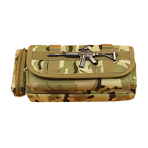 Large Capacity Oxford Cloth Pencil Case Office School Stationery Supplies  Organizer Zipper Pencil Box Holder Bag Camouflage