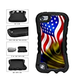BleuReign(TM) Romania And USA Mixed Flag Dual Layer Phone Case Back Cover Apple iPod Touch 5th Generation