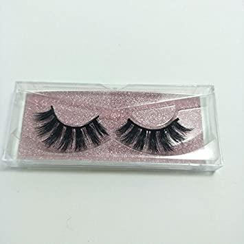 9a38faf4345 Amazon.com : 100% Handmade 3D Full Strips Mink Eyelashes Wholesale Siberian Mink  Fur Fake Eyelashes Extensions Makeup Strip Lashes One Pair Package ...