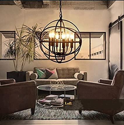 Chandeliers Ceiling Lights & Fans American Potted Plant Iron Chandelier Lighting For Bar Cafe Dining Room Hanging Light Fixtures Loft Deco Vintage Industrial Lamp Skillful Manufacture