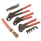 IWISS F1807 PEX Crimping Tool 1/2''&3/4''&1'' Copper Ring Crimper Piler with FREE Cutter&GO NO GO Gauge