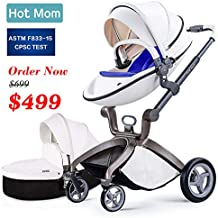 Baby Stroller 2018, Hot Mom Baby Carriage with Bassinet Combo,White