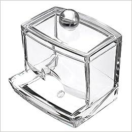 Topteck - Caja acrílica para bastoncillos de algodón: Amazon.es ...