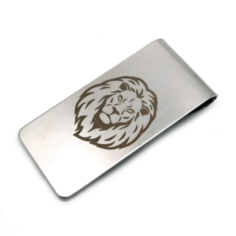 BOBIJOO Jewelry - Zange Ticket Edelstahl 316 Matt Igel-Templer Lion Freimaurer Wahl 55x26mm - Freimaurer
