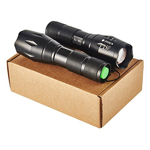 Gracetop LED Tactical Flashlight T6 Adjustable Light Lamp with 5 Modes, Water Resistant Best Camping, Outdoor, Emergency, Everyday Flashlights