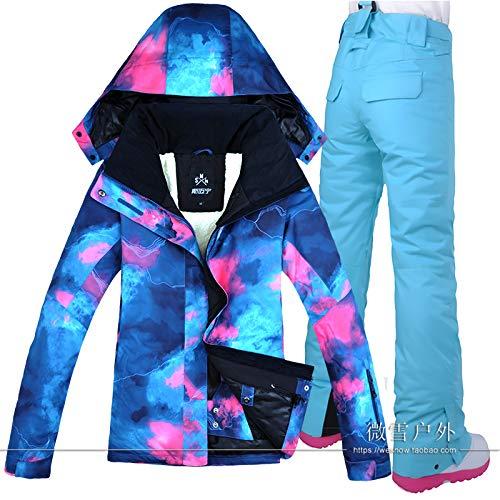 Femme Set Ski Skijacke Winddicht 2 Damen Hose K Wasserdicht Costume rrC1npq