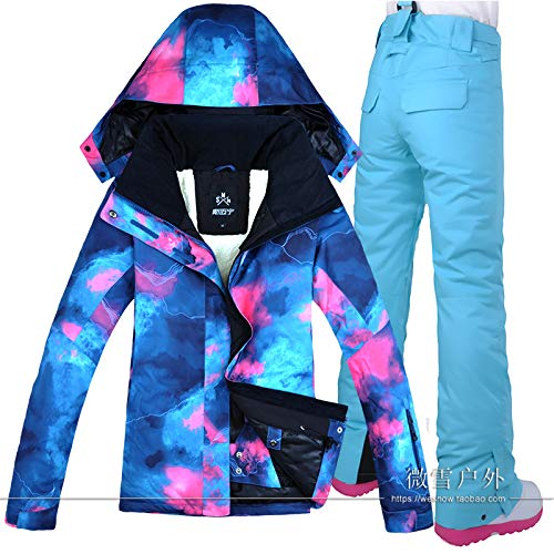 2 Femme K Skijacke Wasserdicht Damen Ski Set Hose Costume Winddicht wAwHaq4x