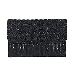 Beaded Sequin Clutch Bag