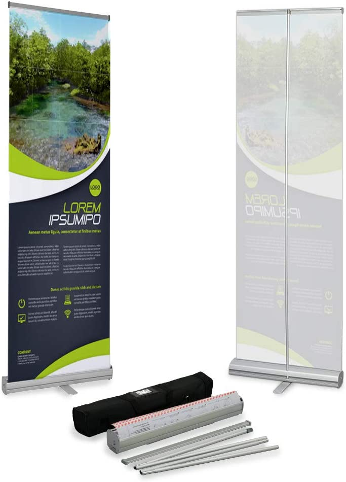 33x79 DELUXE Retractable Banner Stand Roll Up Trade Show Sign Display 4 PACK