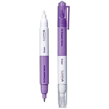 CLOVER Purple Fine Air Erasable Marker with Eraser