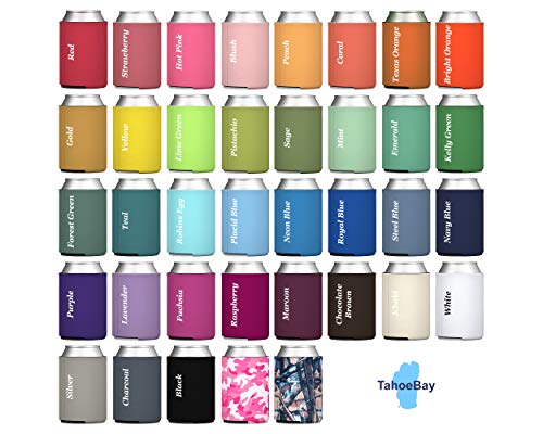 TahoeBay 200 Blank Beer Can Coolers, Plain Bulk Collapsible Soda Cover Coolies, DIY Personalized Sublimation Sleeves for… |