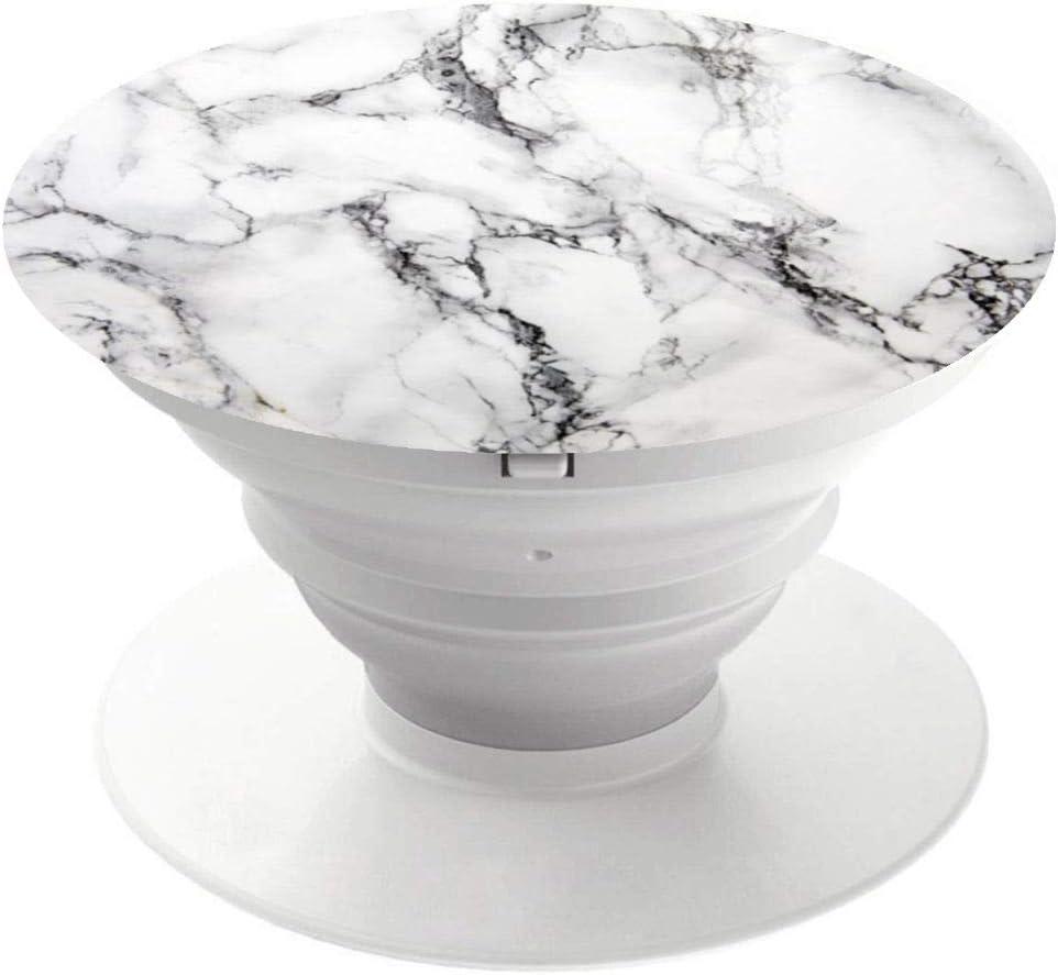 Expanding Phone Socket,Pop Mount Grip Holder for Cellphone-White Gray Marble