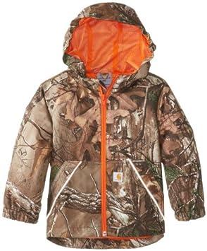 d3a3474ebd08 Carhartt Baby-Boys Infant Packable Work Camo Hooded Rain Jacket ...