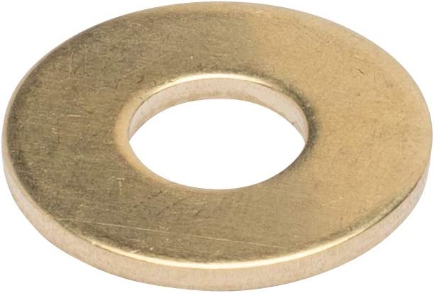 "3/8"" x 1"" OD Brass Flat Washer, (25 Pack) - Choose Size, by Bolt Dropper"
