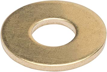 - Choose Size by Bolt Dropper #8 x 3//8 OD Brass Flat Washer, 100 Pack
