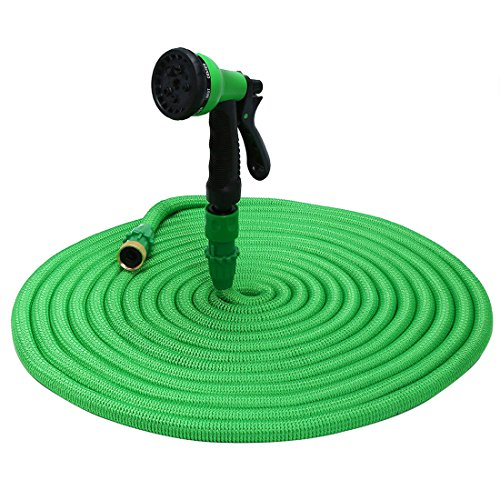 Pavlit Expandable Garden Hose 75ft, New 2018 Innovative Leakproof Patent Connector, Lightweight Flexible Water Hose with 8 Modes Spray Gun (Plastic Water Hose)