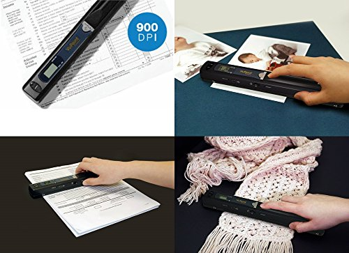 VuPoint Magic Wand Portable Scanner with Carrying Case & 8GB MicroSD Card