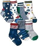 7 Paris Baby Boy's Ankle Socks Toddler Non-Slip Dark Socks Resistance Soiling 8-36M (QS1-7 Colors)