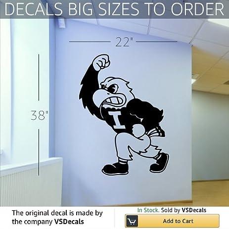 Amazon.com: NCAA Iowa Hawkeyes Logo Wall Art Sticker Decal (S297 ...