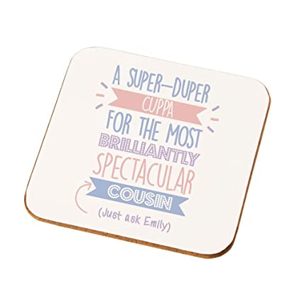 Best Cousin Drinks Coaster Female Gifts Birthday Presents Unique Ideas Amazoncouk Kitchen Home