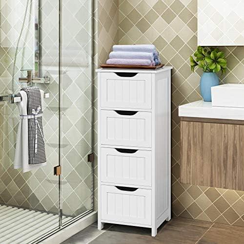 home, kitchen, furniture, accent furniture,  storage cabinets 11 discount Yaheetech Bathroom Floor Cabinet, Wooden Side Storage Organizer promotion