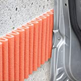 Bumper for Walls (Car Door Protection), Auto-Adhesive Foam, Protective Padding for Any Surface in the Office or HomeGeneral usage: on garage walls so it won't damage the car doors.Each kit contains 2strips ≈ 1.4m x 17cm.Colour: orange.