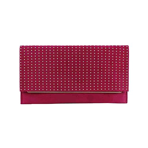 Bluebags solapa Fucsia Women's Cartera y EFERRI con de tachuelas mano Pink Clutch xw6BTxRrn