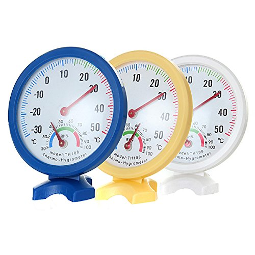 Standing Mini Indoor And Outdoor Thermometer Hygrometer by Randall Elliott by Generic
