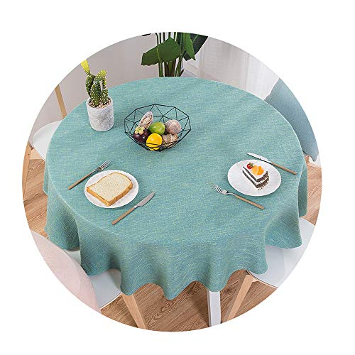 COOCOl Great Table Cloth Round Wedding Party Table Cover Cotton Linen Tablecloth Nordic Tea Coffee Tablecloths,F,220Cm Diameter Round