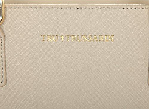 blanc ivoire sac Tote Trussardi Tru Saffiano femme qxfwXY6