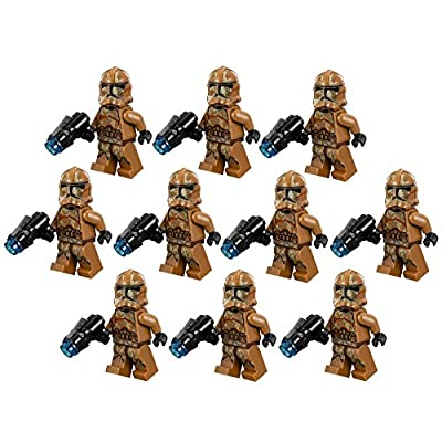 10 New Lego Star Wars Geonosis Clone Trooper Minifig Lot 75089 Storm Figure: Toys & Games