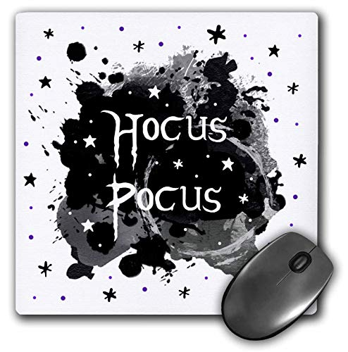 3dRose InspirationzStore - Occasions - Hocus Pocus - Spooky Halloween Saying Witchy Witches Spell - Witch Fun - Mousepad -