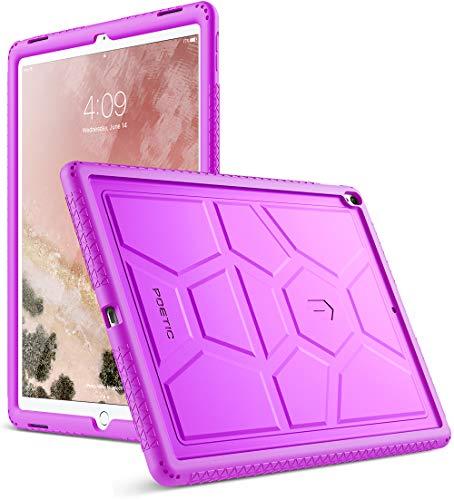 Poetic TurtleSkin iPad Pro 12.9 Rugged Case Heavy Duty Protection Silicone Sound-Amplification for Apple iPad Pro 12.9 (1st Gen 2015) / iPad Pro 12.9 (2nd Gen 2017) Purple