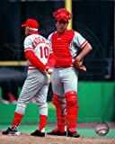 Johnny Bench & Sparky Anderson Cincinnati Reds MLB Posed Photo 8x10 #2